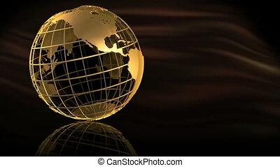 황금, 지구, 회전
