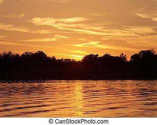 황금, 호수
