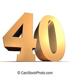 황금, 40