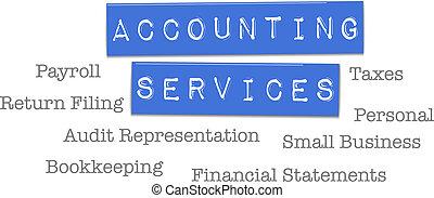 회계, 서비스, 세금, cpa