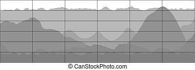회색, 사업, 바람 빠진 타이어, 그래프, 경향, chart.