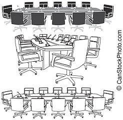 회의 앞면, 특수한 모임
