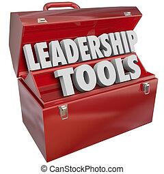 훈련, 관리, 경험, 지휘자의 지위, 기술, 도구