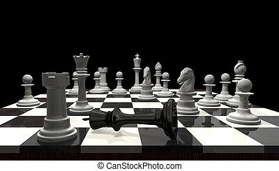 -, échecs, échec mat