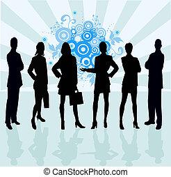 -, équipe, vect, business