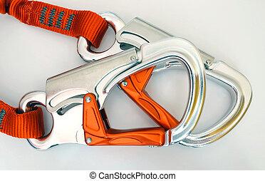 -, équipement, sécurité, carabiners, escalade, quickdraws,...