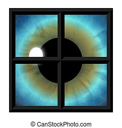 -, øjne, vindue, sjæl
