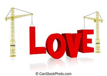 -, żuraw, pojęcie, miłość