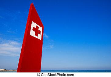 - , βαρκελώνη , σήμα , βοήθεια , παραλία , πρώτα