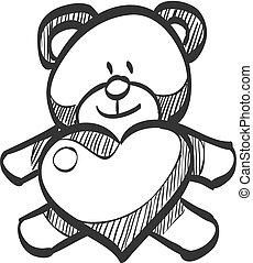 - , δραμάτιο , εικόνα , αγάπη , teddy