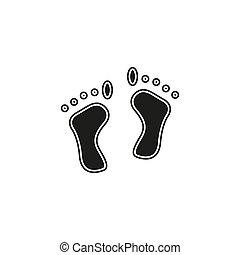 - , εικόνα , πατημασιές, μικροβιοφορέας , ανθρώπινο όν πόδια