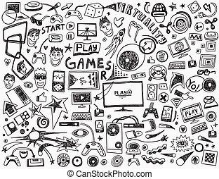 - , ηλεκτρονικός υπολογιστής , συλλογή , παιγνίδια , doodles