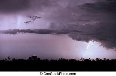 - , καταιγίδα , τοπίο , αστραπή