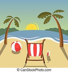 - , παραλία , ηλιοβασίλεμα , τοπίο