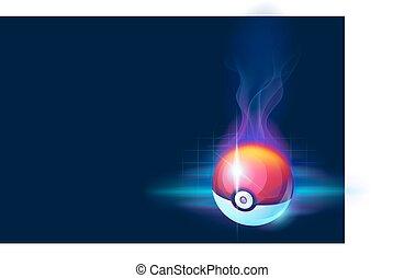 -, игра, задний план, мяч, красивая, абстрактные, темно, pokeball