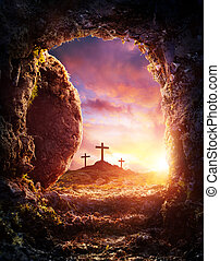 -, распятие на кресте, пустой, воскрешение, могила, христос, иисус