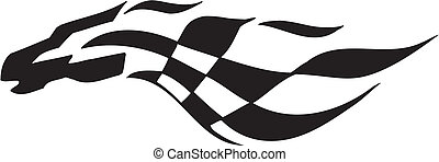 -, флаг, checkered, гоночный, символ