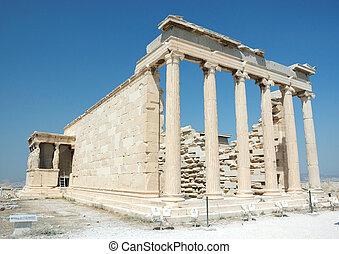 -, アテネ, 有名なランドマーク, 世界, アクロポリス, 台なし