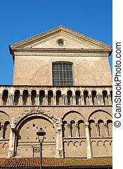 -, イタリア, ferrara, 大聖堂