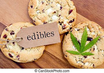 -, クッキー, インド大麻, 薬効がある, edibles, マリファナ