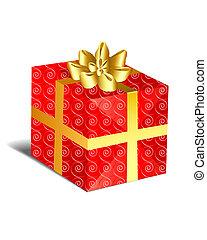 -, クリスマスプレゼント, 赤