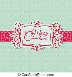 -, クリスマス, 招待, ベクトル, レトロ, スクラップブック, デザイン, カード, 挨拶