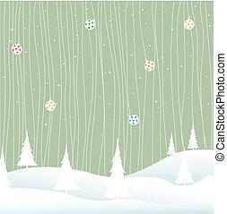 -, クリスマス, 陽気, 冬
