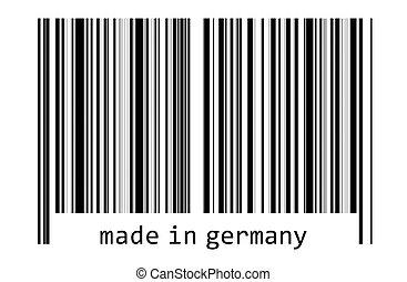 -, コード, バー, ドイツ, 作られた