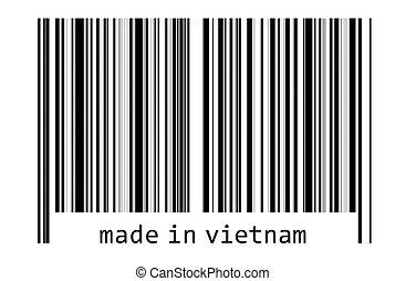 -, コード, バー, 作られた, ベトナム