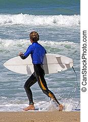 -, サーフィン, スポーツ, 海, 波