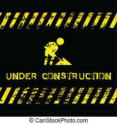 -, スタイル, 建設, グランジ, 下に