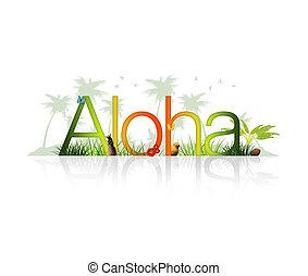 -, ハワイ, aloha