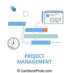 -, プロジェクト, ベクトル, 管理
