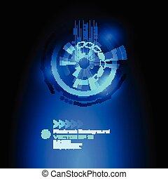 -, ベクトル, サイエンスフィクション, 背景, 抽象的, ハイテク, デザイン, 未来派