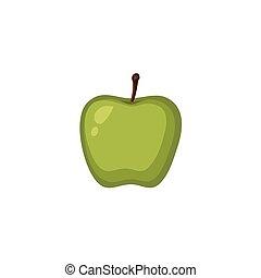 -, ベクトル, 緑のリンゴ, 成果