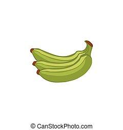 -, ベクトル, 緑, バナナ, 成果