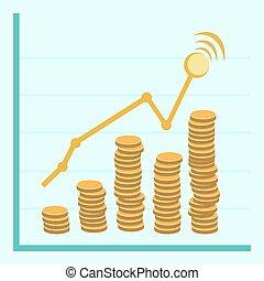 -, ベクトル, 財政, 金, 計画, ものもらい, コイン, ビジネス, レトロ, 平ら