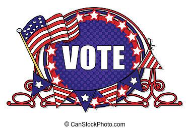 -, ベクトル, 選挙, グラフィックス, 投票, 日