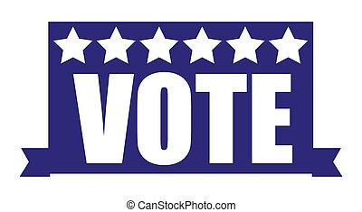 -, ベクトル, 選挙, 投票, 旗, 日