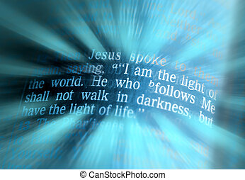 -, 世界, テキスト, 聖書, ジョン, 8:12, ライト