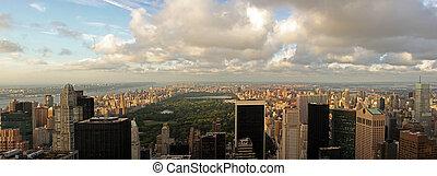 -, 公園, 中央である, マンハッタン