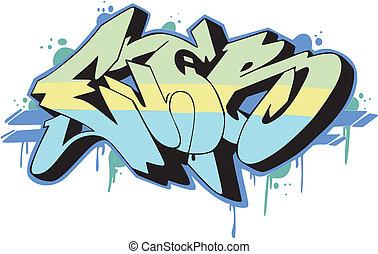 -, 刻於牆上的文字, 曾經