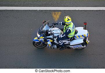 -, 力, 交通, バイカー, 警察