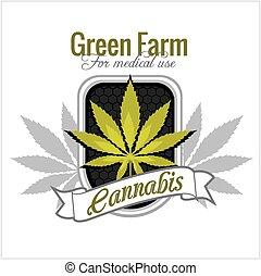 -, 医学, cannabis., マリファナ, ベクトル, use., set.