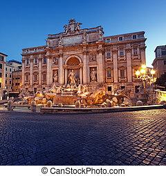 -, 噴水, ローマ, イタリア, trevi