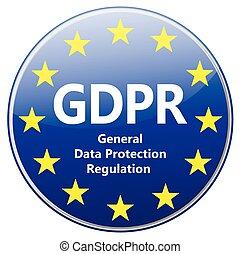 -, 将官, gdpr, 保護, eu, 印, 星, regulation., データ