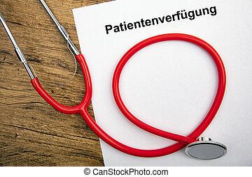 -, 意志, patientenverfuegung, 暮らし