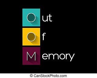 -, 技術, oom, 頭字語, 概念, 記憶, から