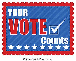 -, 日, 選挙, 投票, 計算, あなたの