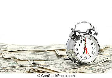 -, 概念, 钱。, 商业, 时间